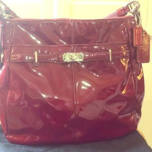 Coach Chelsea Patent Leather Ruby Red Carryall